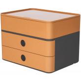 Suport cu 2 sertare + cutie ustensile HAN Allison Smart Box Plus - maro caramel