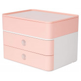 Suport cu 2 sertare + cutie ustensile HAN Allison Smart Box Plus - roz flamingo