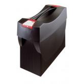 Suport plastic pentru 20 dosare suspendabile, cu capac, HAN Swing Plus - negru