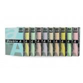 Hartie color pentru copiator  A4,  80g/mp, 100coli/top, Double A - 5 culori pastel asortate