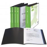 Dosar de prezentare personalizabil, cu  60 folii, A4, coperta rigida, Q-Connect - negru