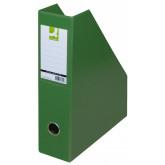 Suport reviste, carton plastifiat PVC, latime 76mm, Q-Connect - verde