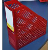 Suport vertical plastic pentru cataloage,  75mm, KEJEA - rosu