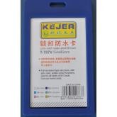 Suport PP water proof snap type, pentru carduri,  55 x  85mm, vertical, 5 buc/set, KEJEA - bleumarin