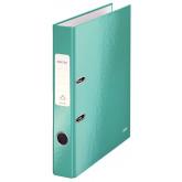 Biblioraft LEITZ 180 WOW, carton laminat, A4, 52 mm, turcoaz