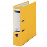 Biblioraft LEITZ 180, A4, plastifiat PP, margine metalica 80 mm - galben