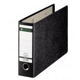 Biblioraft LEITZ 180, carton, A4 landscape, 80mm, negru