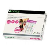Folie LEITZ Standard pentru laminare, A7 - 125 microni, 100 folii/cutie