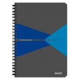 Caiet de birou LEITZ Office, carton, A5, cu spira, matematica - albastru