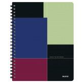 Caiet de birou LEITZ Executive Get Organized, PP, A4, cu spira matematica - negru/violet
