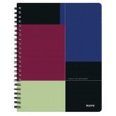 Caiet de birou LEITZ Executive Get Organized, PP, A4, cu spira dictando - negru/violet