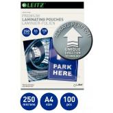 Folie LEITZ UDT pentru laminare la cald,  A4, 250 microni 100 folii/top