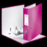 Biblioraft LEITZ 180 Wow, A4, 85mm, carton laminat - roz metalizat