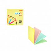 "Magic notes autoadeziv 76 x  76 mm, 100 file, Stick""n Magic Notes - 4 culori pastel"