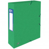 Mapa A4, carton MultiStrat 390g/mp, cu elastic, 60mm latime, OXFORD Top File - verde