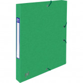 Mapa A4, carton MultiStrat 390g/mp, cu elastic, 25mm latime, OXFORD Top File - verde