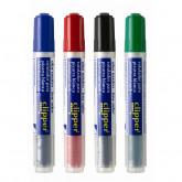 Marker pentru table de scris, cerneala lichida, fara miros, Clipper - albastru