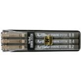 Marker pentru desen tehnic ARTLINE, varf fetru (0.2/0.4/0.8mm), 3 buc/set - negru