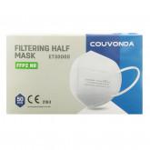 Masca respiratorie cu filtru de protectie FFP2, 5 buc/set - alba