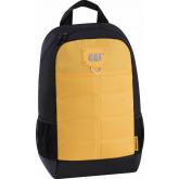 Rucsac CATERPILLAR Millennial Classic - Benji, material 600D HD polyester - negru cu galben