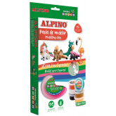 Kit 6 culori x 40gr plastilina magica, ALPINO Fantasy Animals