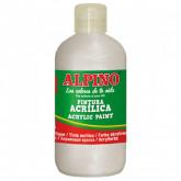 Vopsea acrilica, rezistenta la apa, 250ml, ALPINO - alb metalizat