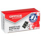 Clip hartie 32mm, 12buc/cutie, Office Products - negru