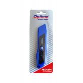 Cutter premium Optima, lama trapezoidala SK5, auto-retractabil, zinc cu rubber grip