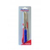 Cutter premium Optima, lama 18mm SK5, 2 functiuni, sina metalica, aluminiu cu ABS