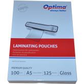 Folie pentru laminare,   A5 (154 x 216 mm), 125 microni 100buc/top Optima