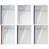 Coperti plastic PVC cu sina metalica  1.5mm, OPUS Easy Open - transparent mat/alb