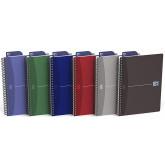 Caiet cu spirala A5, OXFORD Office Essentials, 50 file-90g/mp, Scribzee, 4 perf, coperta carton-mate
