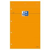 Blocnotes A4+, OXFORD Orange, 80 file galben - 80g/mp, Scribzee, 4 perf, coperta carton - dictando