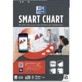 Rezerva hartie flipchart, 65x98mm, OXFORD Smart Chart, 20coli/top, 90g/mp, Scribzee - velina