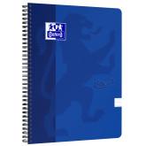 Caiet cu spirala A4, OXFORD School Touch , 70 file-90g/mp, 4 perf, coperta carton albastru -dictando