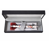 Pix multifunctional de lux PENAC Maki-E - Aki & Haru, in cutie cadou, corp alb