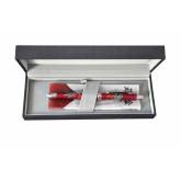 Pix multifunctional de lux PENAC Maki-E - Hoo-oo, in cutie cadou, corp bordeaux