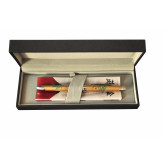 Pix multifunctional de lux PENAC Maki-E - Hoo-oo, in cutie cadou, corp auriu