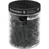 Patroane SCHNEIDER, 100buc/borcan cu capac plastic - cerneala neagra