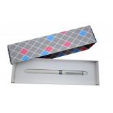 Pix multifunctional de lux PENAC Multisync MS-107, in cutie cadou, corp alb - accesorii argintii