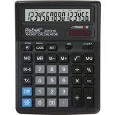 Calculator de birou, 16 digits, 193 x 143 x 38 mm, Rebell BDC 616 - negru