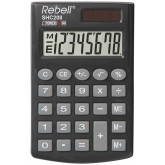 Calculator de buzunar, 8 digits, 100 x 62 x  8 mm, capac din plastic, Rebell SHC208