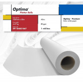 Rola plotter A0++, 80gr, 1067mm x 50m, Optima - Premium