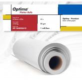 Rola plotter A1+, 80gr, 610mm x 50m, Optima - Premium