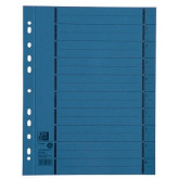 Separatoare carton manila 250g/mp, 300 x 240mm, 100/set, OXFORD - albastru