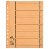 Separatoare carton manila 250g/mp, 300 x 240mm, 100/set, OXFORD - galben