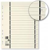 Separatoare carton manila, 230g/mp, 300 x 240mm, 100/set, OXFORD -  bej