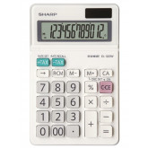 Calculator de birou, 12 digits, 153 x  97 x 18 mm, dual power, ecran rabatabil, SHARP EL-320W - alb