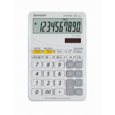Calculator de birou, 10 digits, 149 x 100 x 27 mm, dual power, SHARP EL-M332BBL - gri/alb