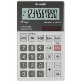 Calculator de buzunar, 10 digits, 117 x 70 x  8 mm, dual power, SHARP EL-W211GGY - gri